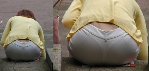 透けパンツや透けブラにちんこが反応する素人娘のお尻エロ画像 246