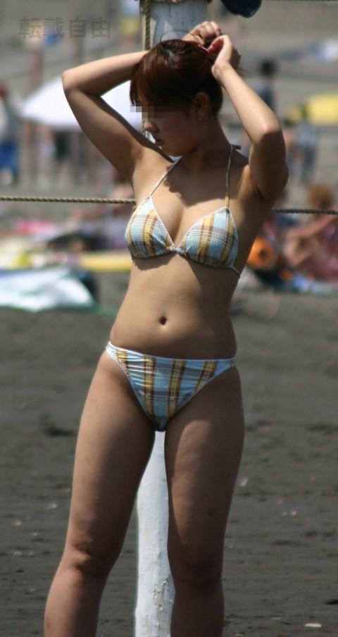 プールやビーチで撮影されたビキニギャルの巨乳おっぱいエロ画像 1528