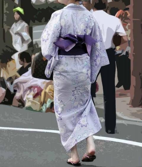 素人娘の和服姿や和服でエッチな事してるエロ画像 ero724