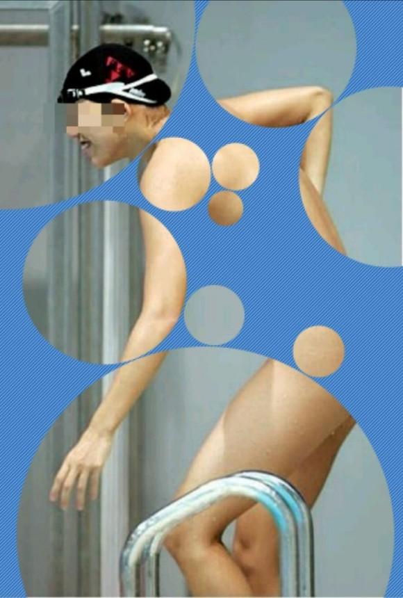 水着姿の素人娘に水玉のガラスコラで素っ裸にしたエロ画像 1144
