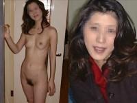服を着てる時と裸になった時のギャップがエロい素人妻熟女のエロ画像