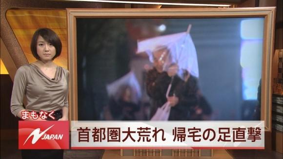 女子アナ大島由香里の服から溢れんばかりの着衣巨乳おっぱいエロ画像 1176