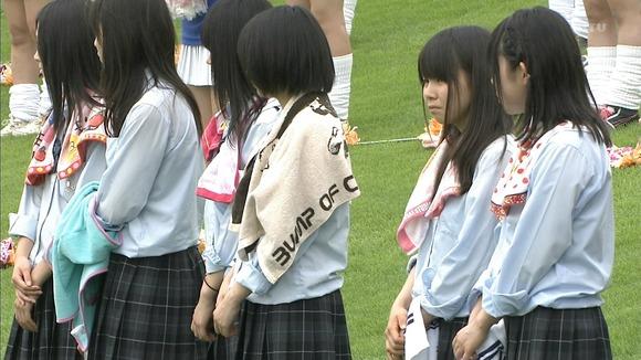 高校野球のテレビ放送で映った女子校生達の素人エロ画像 1666