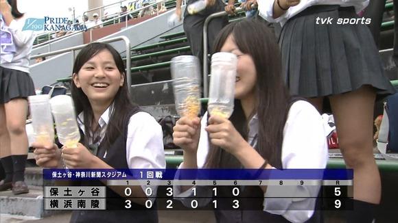 高校野球のテレビ放送で映った女子校生達の素人エロ画像 1766