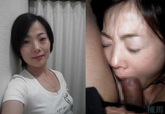 服を着てる時と裸になった時のギャップがエロい素人妻熟女のエロ画像 1981