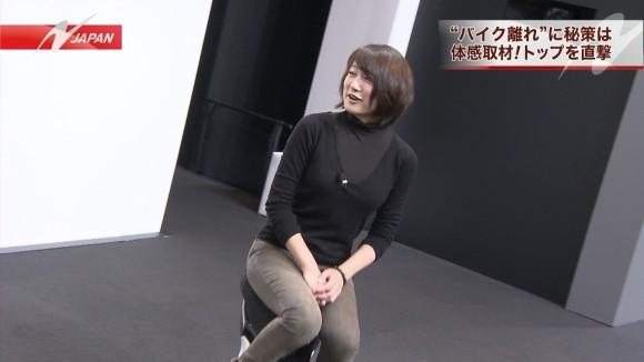 女子アナ大島由香里の服から溢れんばかりの着衣巨乳おっぱいエロ画像 2049