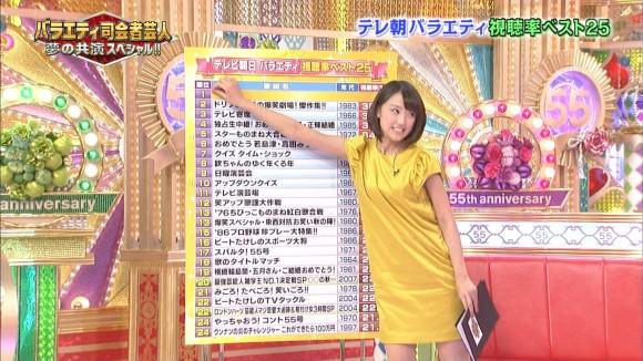 女子アナ竹内由恵がワキチラしてるキャプエロ画像 2201