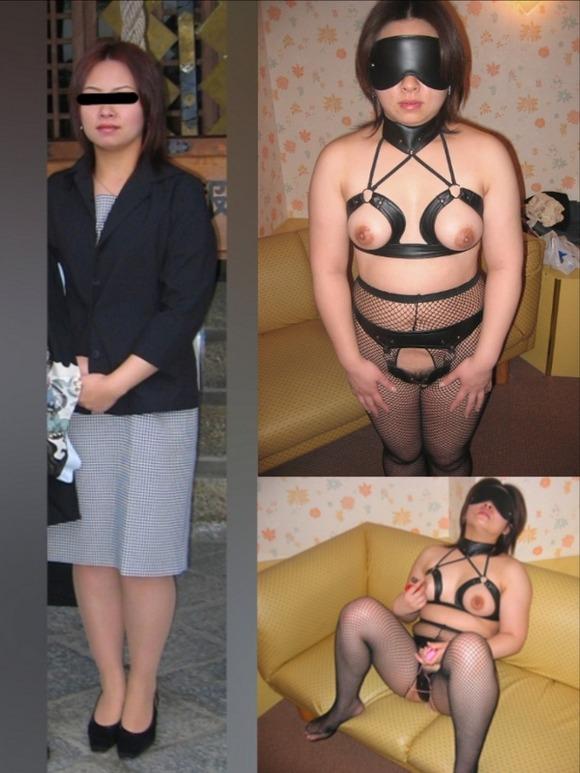 服を着てる時と裸になった時のギャップがエロい素人妻熟女のエロ画像 2290