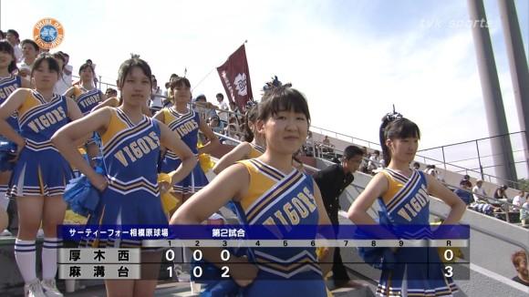 高校野球の応援席ではしゃぐ女子校生チアリーダーのエロ画像 2394