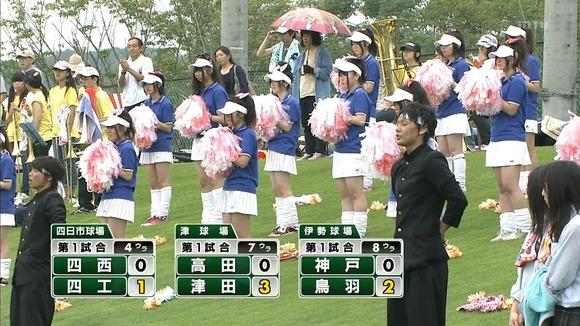 高校野球のテレビ放送で映った女子校生達の素人エロ画像 2466