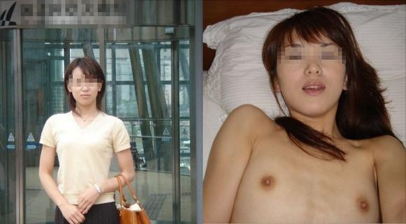 服を着てる時と裸になった時のギャップがエロい素人妻熟女のエロ画像 2477