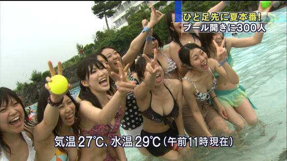 テレビのニュースで報道されたビキニギャルの素人エロ画像 270