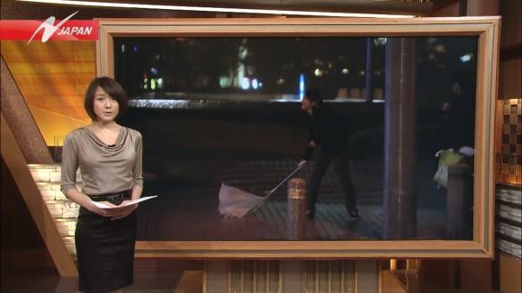 女子アナ大島由香里の服から溢れんばかりの着衣巨乳おっぱいエロ画像 2847