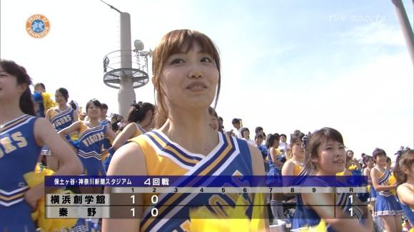 高校野球の応援席ではしゃぐ女子校生チアリーダーのエロ画像 3080