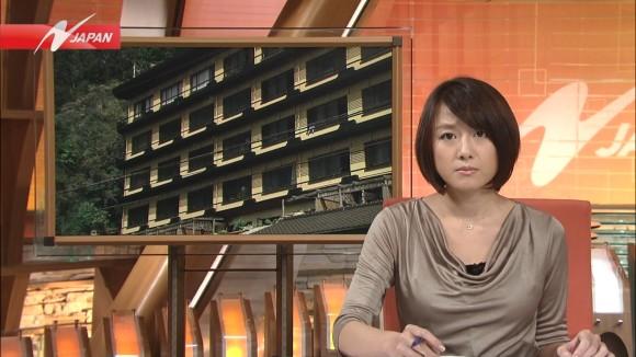 女子アナ大島由香里の服から溢れんばかりの着衣巨乳おっぱいエロ画像 3168