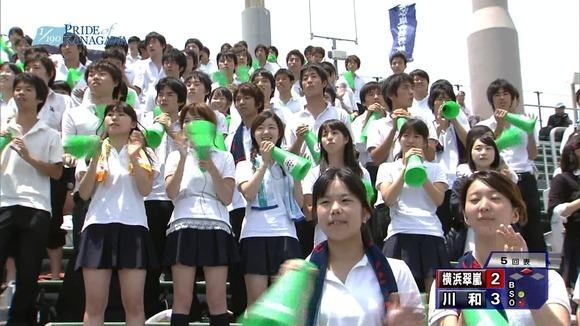 高校野球のテレビ放送で映った女子校生達の素人エロ画像 3199