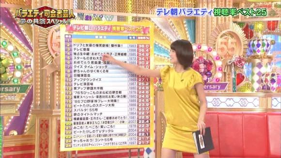 女子アナ竹内由恵がワキチラしてるキャプエロ画像 3256