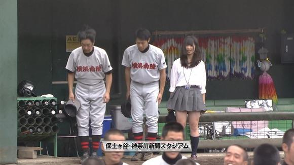 高校野球のテレビ放送で映った女子校生達の素人エロ画像 3259