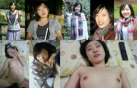 服を着てる時と裸になった時のギャップがエロい素人妻熟女のエロ画像 3271