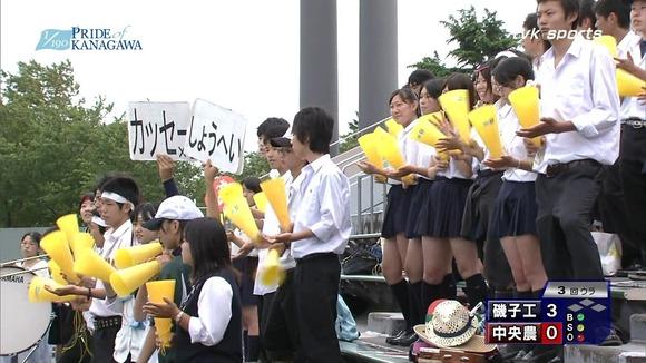 高校野球のテレビ放送で映った女子校生達の素人エロ画像 3356