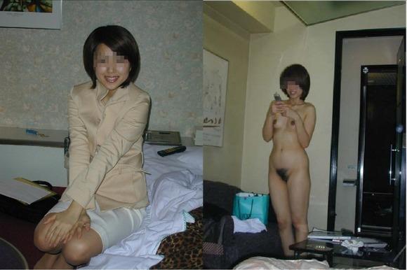 服を着てる時と裸になった時のギャップがエロい素人妻熟女のエロ画像 3462