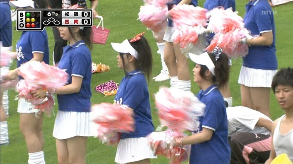 高校野球のテレビ放送で映った女子校生達の素人エロ画像 3554
