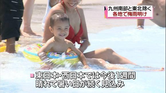 テレビのニュースで報道されたビキニギャルの素人エロ画像 359