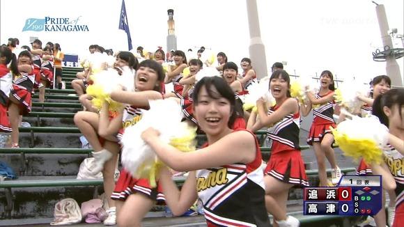 高校野球のテレビ放送で映った女子校生達の素人エロ画像 3839
