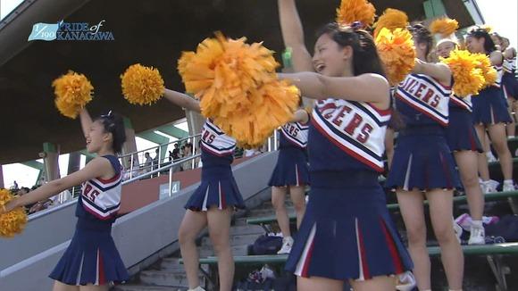 高校野球のテレビ放送で映った女子校生達の素人エロ画像 4038