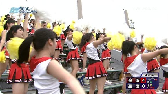 高校野球のテレビ放送で映った女子校生達の素人エロ画像 4213