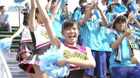 高校野球のテレビ放送で映った女子校生達の素人エロ画像 4413