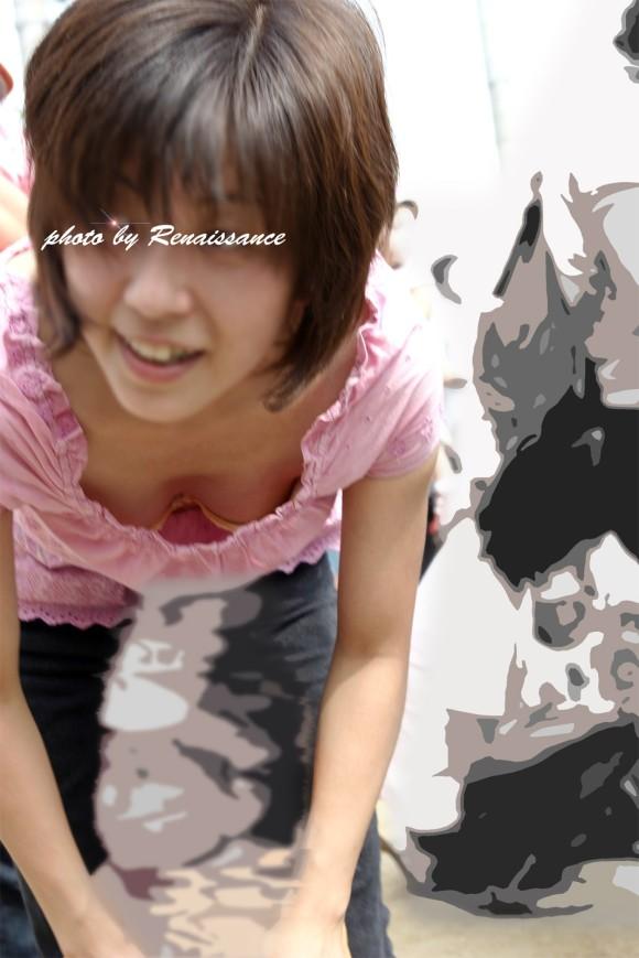 素人娘の自画撮りとか巨乳おっぱいの谷間の胸チラエロ画像 464