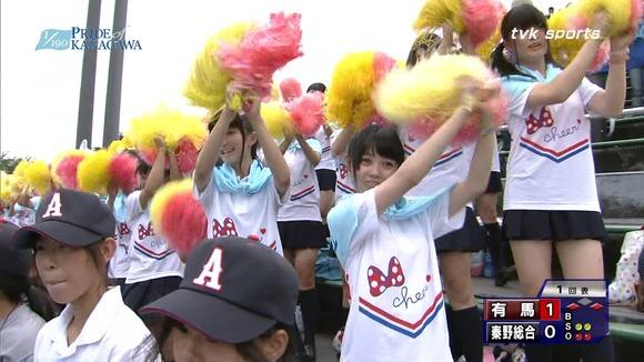 高校野球のテレビ放送で映った女子校生達の素人エロ画像 489