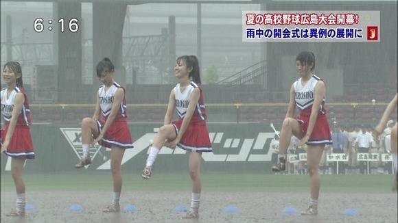 高校野球のテレビ放送で映った女子校生達の素人エロ画像 495
