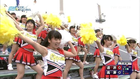 高校野球のテレビ放送で映った女子校生達の素人エロ画像 575