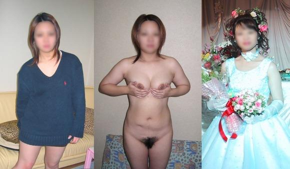 服を着てる時と裸になった時のギャップがエロい素人妻熟女のエロ画像 688