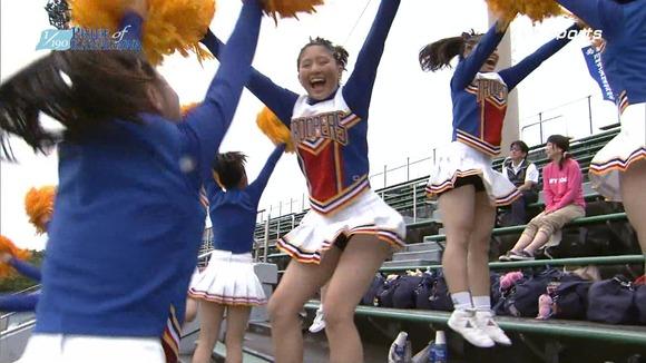 高校野球のテレビ放送で映った女子校生達の素人エロ画像 966