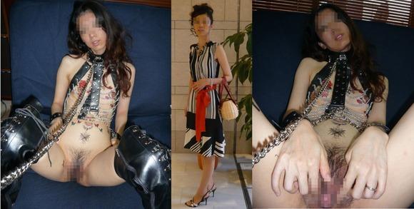 服を着てる時と裸になった時のギャップがエロい素人妻熟女のエロ画像 981