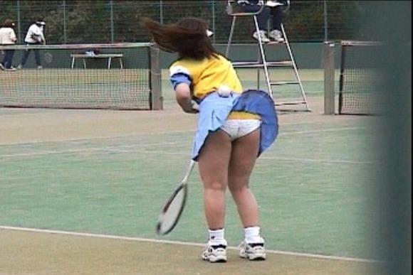 テニス部の女子が試合を頑張ってるお尻のエロ画像 1012