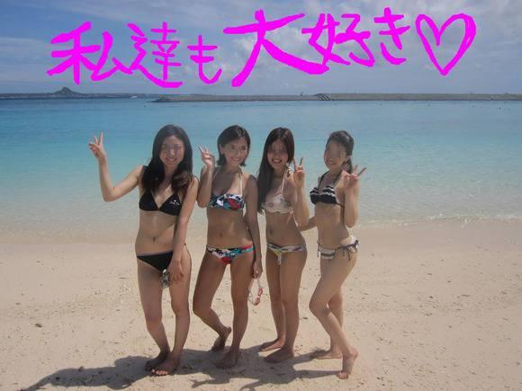 夏の砂浜でビキニを着るとみんなギャルに見えるエロ画像 1170