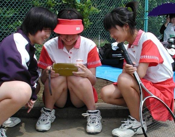 テニス部の女子が試合を頑張ってるお尻のエロ画像 1214
