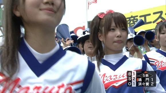 高校野球を応援する女子校生チアガールが異常に可愛いキャプエロ画像 1236