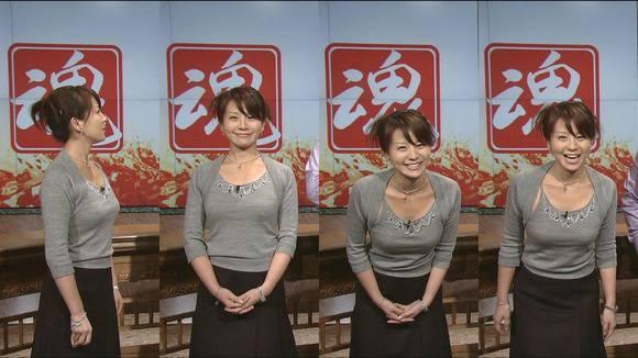 美人OLの女子アナがテレビでエッチな姿を披露するキャプエロ画像 1321