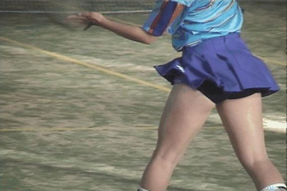 テニス部の女子が試合を頑張ってるお尻のエロ画像 1712