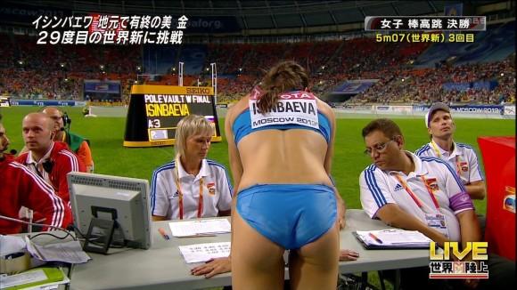 スポーツ選手たちの引き締まったお尻に視線が釘付けなキャプエロ画像 183