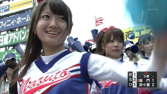 高校野球を応援する女子校生チアガールが異常に可愛いキャプエロ画像 2033