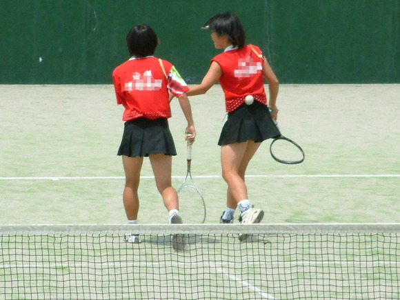 テニス部の女子が試合を頑張ってるお尻のエロ画像 2116