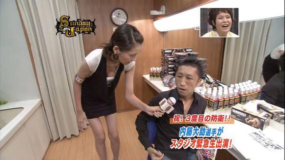 美人OLの女子アナがテレビでエッチな姿を披露するキャプエロ画像 2124