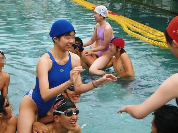 水泳部や陸上部の引き締まった体がエッチな素人娘たちのエロ画像 2132