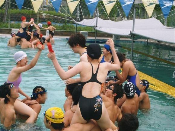 水泳部や陸上部の引き締まった体がエッチな素人娘たちのエロ画像 2228